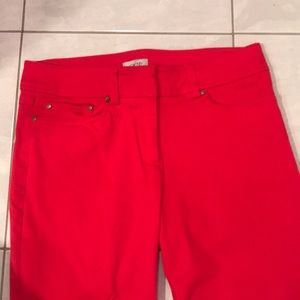 Cache red cropped pants, size 2
